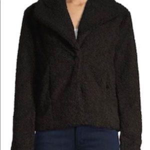 NWOT~SANCTUARY Black Button TEDDY COAT~Faux Fur~L